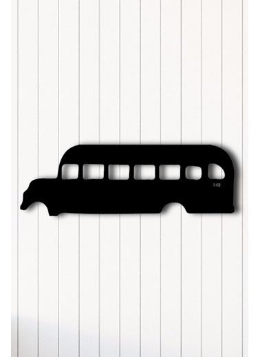 Angemiel Home Otobüs Nostaljik Metal Duvar Tablosu Siyah